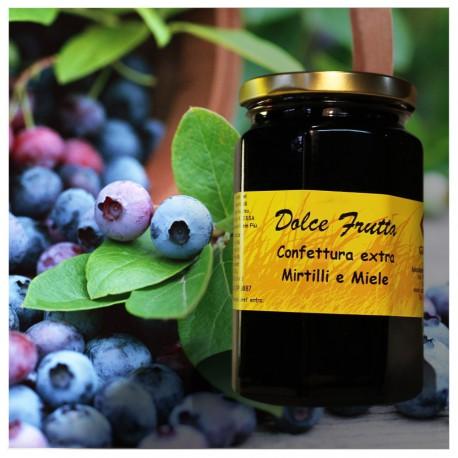 Dolce frutta Confettura extra di mirtilli e miele