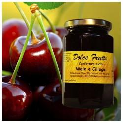 Dolce frutta Confettura extra di ciliegie e miele